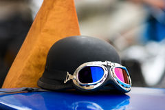 Motorbike goggles Stock Images