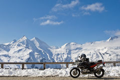 Motorbike in Grossglockner, Austria Stock Photography