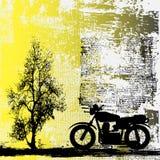 Motorbike Grunge Background. Background grunge illustration with a motorbike and blurred text vector illustration