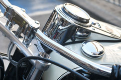 Motorbike handlebar and dashboard Royalty Free Stock Photography