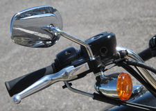 Motorbike handlebar detail Stock Photo
