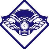 Motorbike Handlebar Headlamp Wings Diamond Retro Stock Images