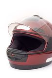 Motorbike helmet. A full-face motorbike helmet isolated on a white background Royalty Free Stock Photography