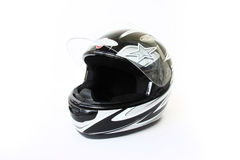 Motorbike helmet isolated. On a white background Royalty Free Stock Photo