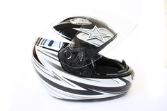 Motorbike helmet isolated. On a white background Stock Photo