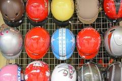 Motorbike helmets Stock Images