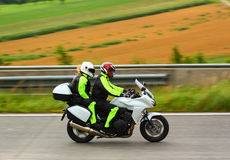 Motorbike on highway Stock Images
