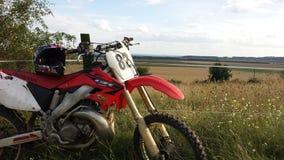 Motorbike honda 250 cross Royalty Free Stock Images