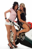 Motorbike Hotties Stock Image