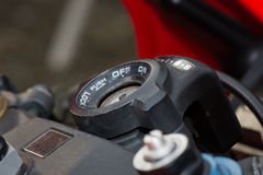 Motorbike ignition closeup Stock Image