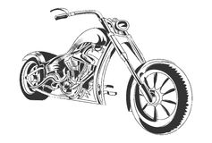 Motorbike illustration tee shirt graphic design Royalty Free Stock Photography