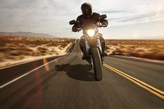 Free Motorbike In The Desert Stock Image - 168627581