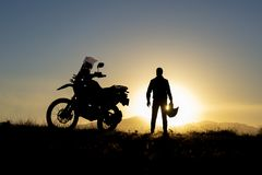 Free Motorbike Journey And Sunsets Stock Photography - 123760232