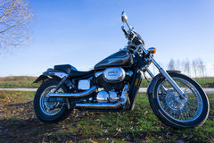 Motorbike on a landscape Royalty Free Stock Photo