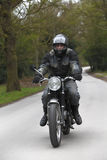 Motorbike man Stock Photos