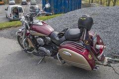 Motorbike meeting at fredriksten fortress Stock Image