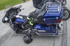Motorbike meeting at fredriksten fortress, harley davidson, elec Royalty Free Stock Photo