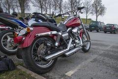 Motorbike meeting at fredriksten fortress, harley davidson super Royalty Free Stock Photo