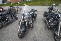 Motorbike meeting at fredriksten fortress, yamaha roadliner Stock Images