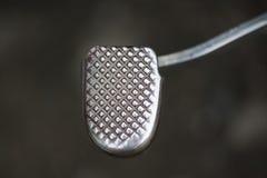 Motorbike metal brake pad, metal texture. Stock Photography