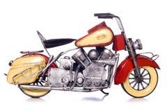 Motorbike metal model cutout. Motorbike metal model studio cutout Royalty Free Stock Photography