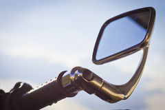 Motorbike mirror Royalty Free Stock Photo