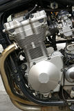 Motorbike motorcycle engine stock photo