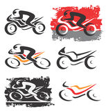 Motorbike motorcycle icons Stock Image