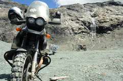 Motorbike in the mountains no.2 royalty free stock image