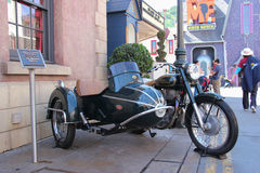 Motorbike from The Mummy Returns 2001. Los Angeles, California, USA - March 12, 2015: The 1939 Royal Enfield Bullet 500cc, the actual motorbike from The Mummy Royalty Free Stock Image