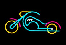 Motorbike Neon Sign Stock Photo