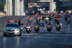Motorbike parade in Bangkok, Thailand Royalty Free Stock Image