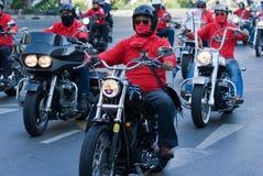 Motorbike parade in Bangkok, Thailand Stock Images