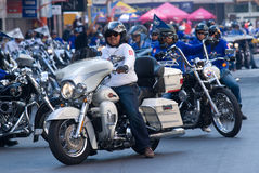 Motorbike parade in Bangkok, Thailand Stock Photo
