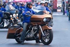 Motorbike parade in Bangkok, Thailand Royalty Free Stock Photography