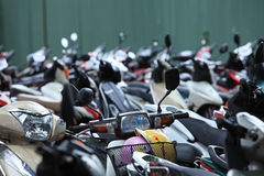 Motorbike parking area Royalty Free Stock Images