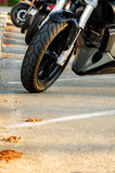 Motorbike parking Stock Photo