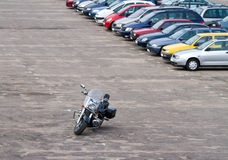 Motorbike on parking lot Stock Photography