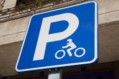 Motorbike Parking Sign Royalty Free Stock Image