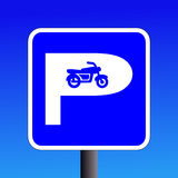 Motorbike parking sign Royalty Free Stock Photos