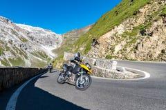 Motorbike on Passo Stelvio Royalty Free Stock Photography