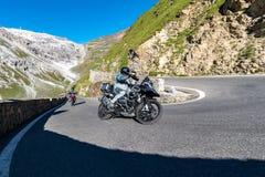 Motorbike on Passo Stelvio Stock Images