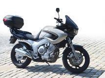 Motorbike on pavement stock image
