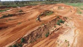 Motorbike race track in the desert stock video