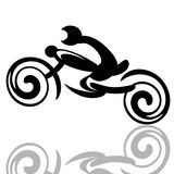 Motorbike racer Stock Photo