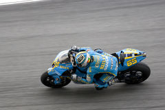 Motorbike racer in action Royalty Free Stock Photos