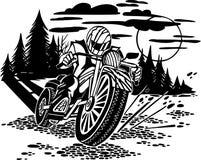 Motorbike racer. Vector illustration. Royalty Free Stock Photo