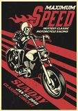 Motorbike racing event poster in vintage and dirty texture Royalty Free Stock Images
