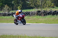 Motorbike racing. Motorbike motorcycle race racing east fortune Scotland royalty free stock images