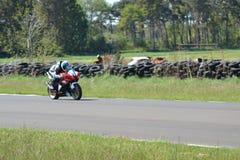 Motorbike racing. Motorbike motorcycle racing race east fortune Scotland stock photography